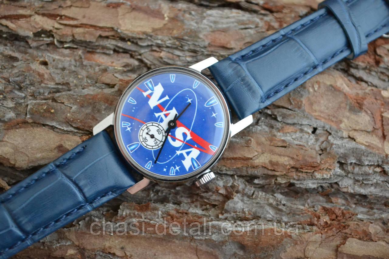Часы Победа NASA,  наручные. Механизм советский. Корпус новый.