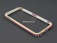 Бампер метал для Apple iPhone SE 5 5S розовый