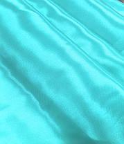 Атлас Стартекс Бирюза (Ширина 150см), Цвет  №14, фото 3