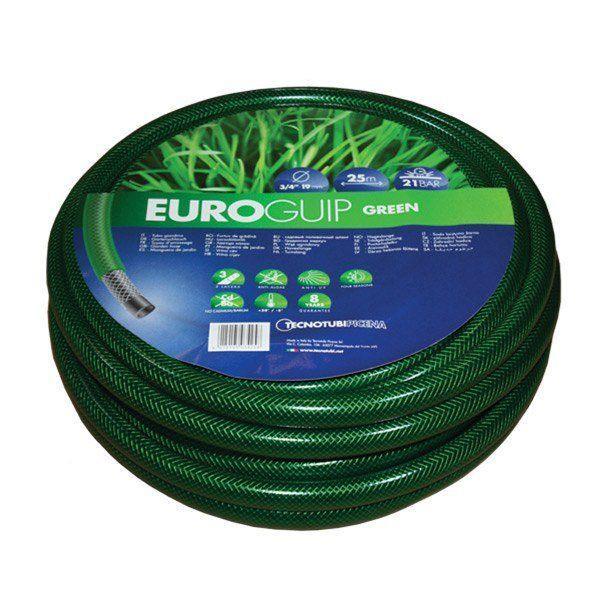 Шланг садовий Tecnotubi Euro Guip Green для поливу діаметр 5/8 дюйма, довжина 25 м (EGG 5/8 25)