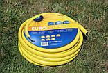Шланг садовий Tecnotubi Euro Guip Yellow для поливу діаметр 1/2 дюйма, довжина 25 м (EGY 1/2 25), фото 2