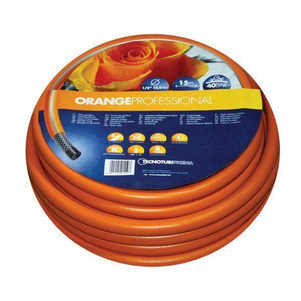 Шланг садовий Tecnotubi Orange Professional для поливу діаметр 1/2 дюйма, довжина 25 м (OR 1/2 25)