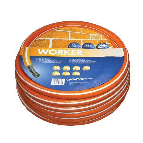 Шланг садовий Tecnotubi Worker для поливу діаметр 3/4 дюйма, довжина 50 м (WR 3/4 50)
