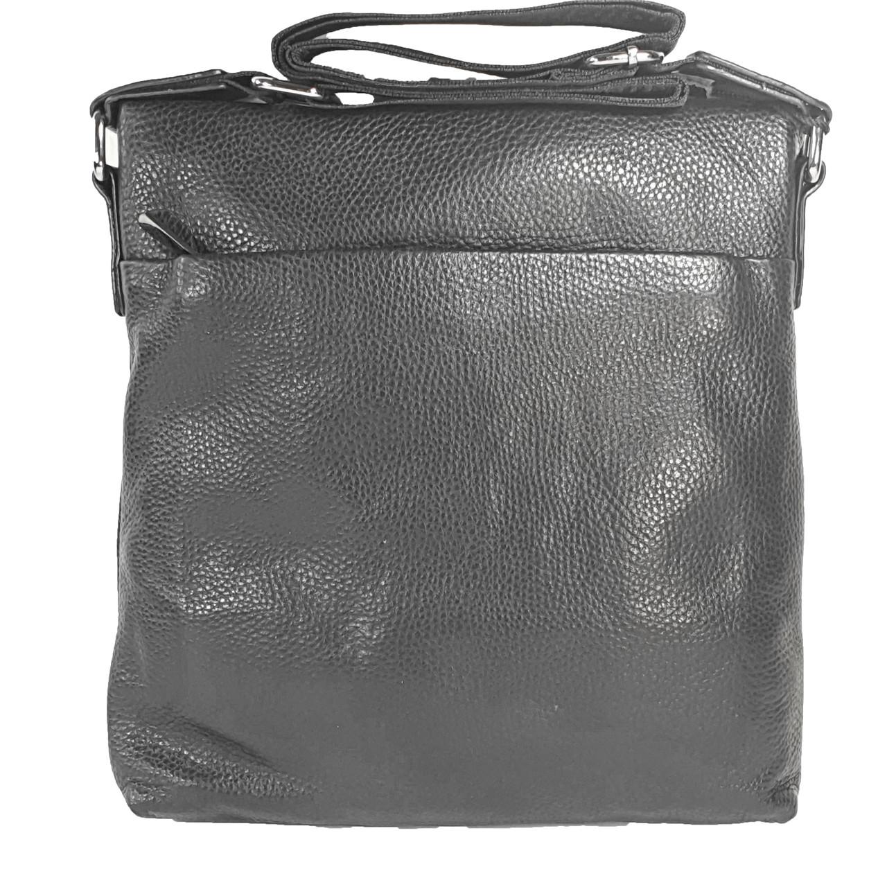 Мужская сумка из натуральной кожи без клапана, большая