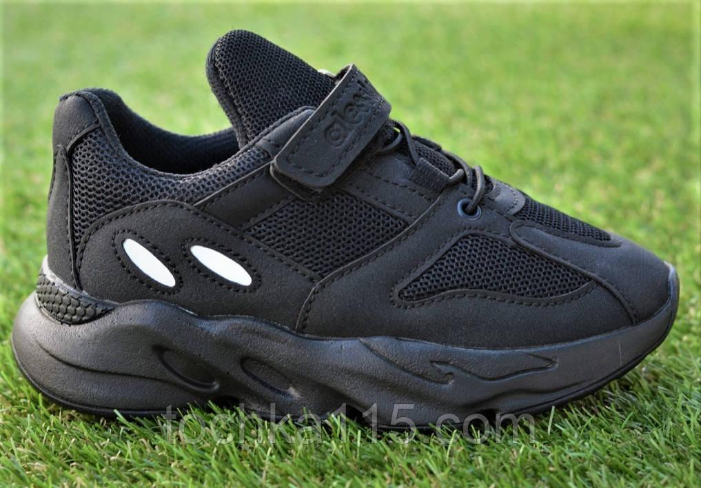 Детские кроссовки сетка  Adidas Yeezy 700 Black адидас черный, копия