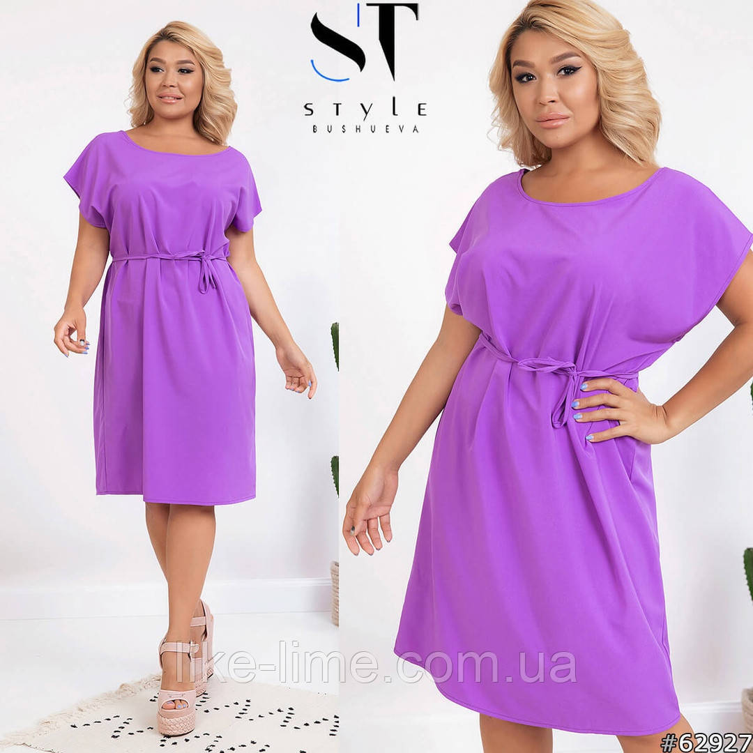 Женское стильное платье батал, женское красивое платье батал