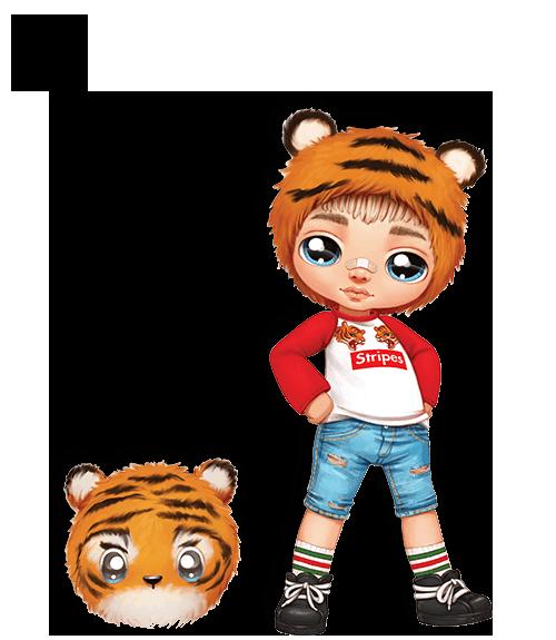 Тигренок - мальчик! Na! Na! Na! Модная кукла Оригинал и плюш (565987)