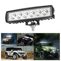 Світлодіодна LED Фара 12-24v 18w DRL Денні ходові вогні Додаткове ближнє світло, лампа заднього ходу
