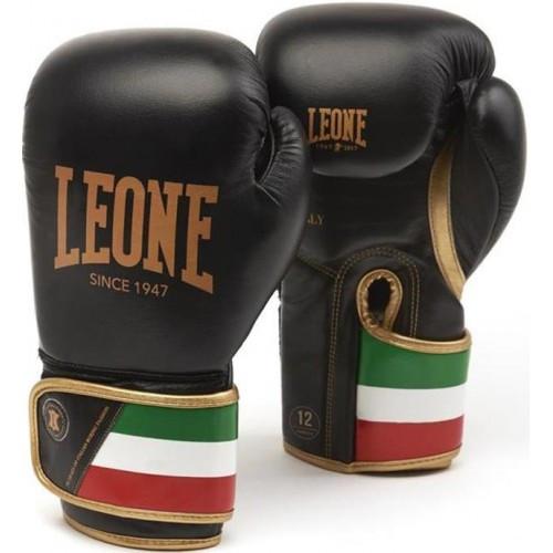 Боксерские перчатки Leone Italy Black 14 ун.