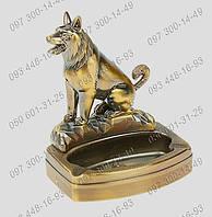 Запоминающиеся подарки Пепельница с зажигалкой-пьезо Собака №3310 Идеи подарка Предмет интерьера