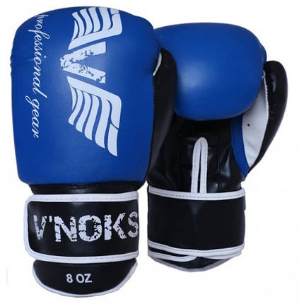 Боксерские перчатки V`Noks Lotta Blue 8 ун., фото 2