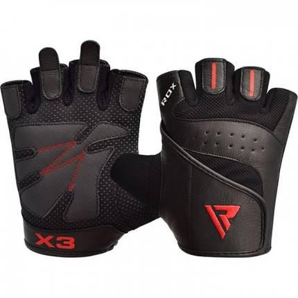 Перчатки для фитнеса RDX S2 Leather Black M, фото 2