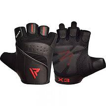 Перчатки для фитнеса RDX S2 Leather Black M, фото 3