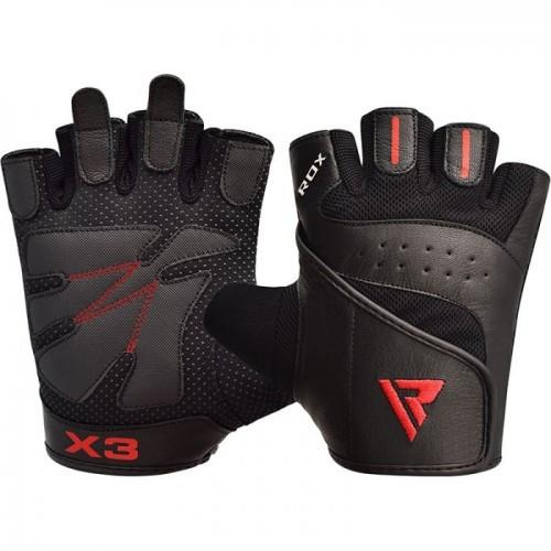 Перчатки для фитнеса RDX S2 Leather Black L