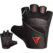 Перчатки для фитнеса RDX S2 Leather Black L, фото 2