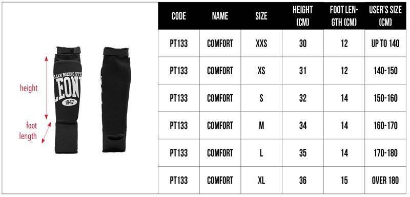 Защита голени Leone Comfort XS, фото 2