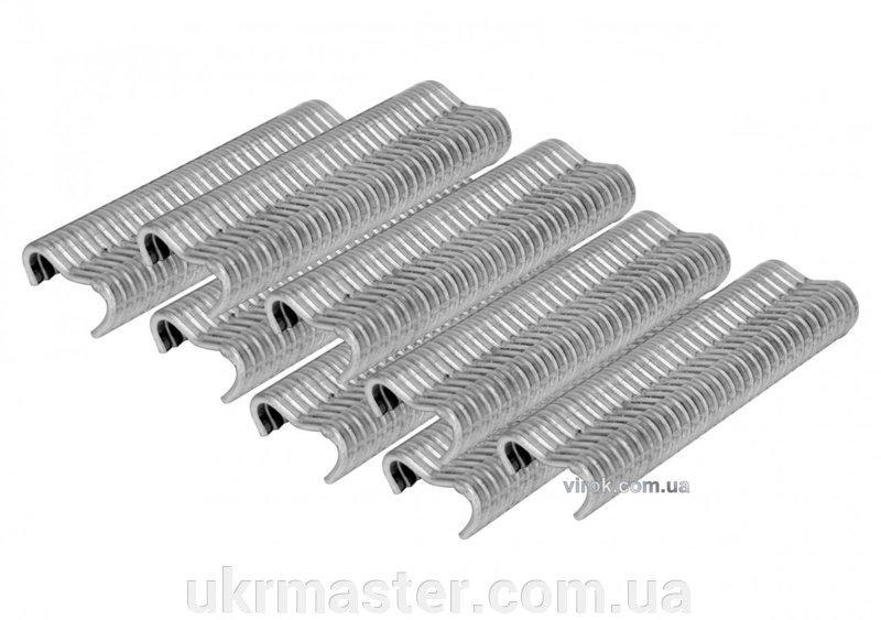 """Скобы стягивающие ограждающие сетку тип """"Е"""" FI 2 мм до щипцов 49840 600 шт Vorel 49841"""