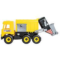 Мусоровоз игрушечный желтый Middle truck