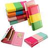 Женский стильный яркий красивый цветной кошелек клатч бумажник визитница мода тренд 6 цветов подарок девушке