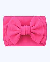 Повязка нарядная летняя солошка афробант розовая