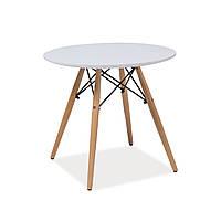 Журнальный столик круглый белый Signal Soho B 60 см в скандинавском стиле Польша