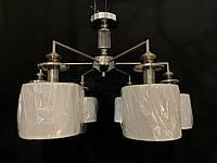 Класична стельова люстра з абажурами на 6 ламп, фото 1