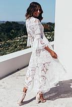 Асимметричное белое платье с V-образным вырезом 44-48 р, фото 3