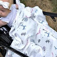 Муслиновые пеленки для новорождённых Лесные зверята