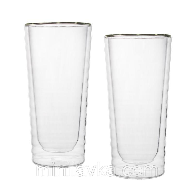 Набор стаканов с двойным дном Herisson EZ-3009 - 2 шт 295 мл