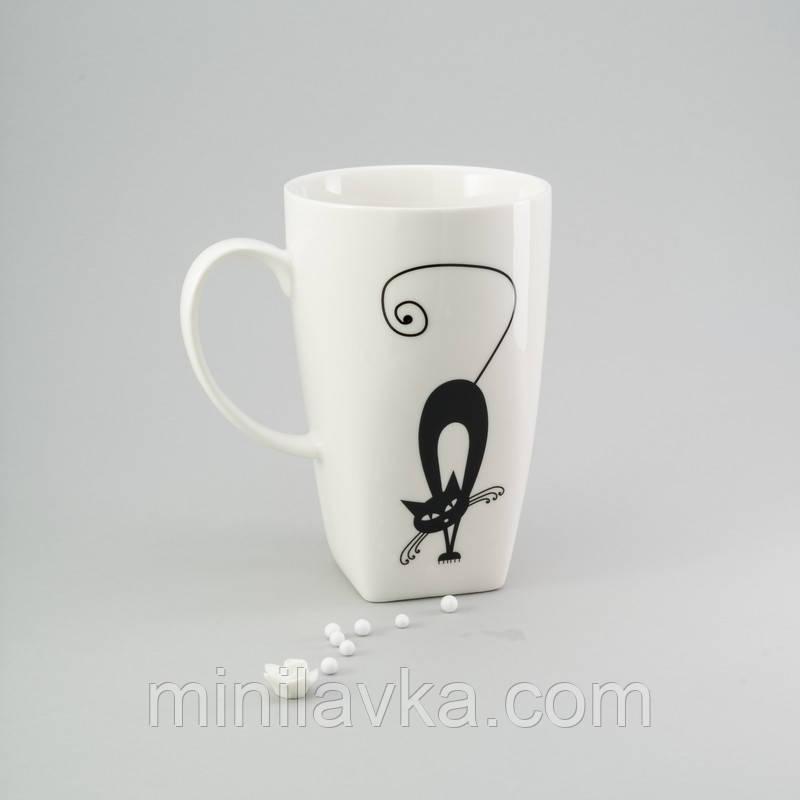 """Чашка для чая керамическая """"Кошка"""" Herisson EZ-2307 500 мл"""
