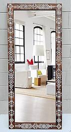 Зеркало напольное этно 185х80х4см, дерево, резьба.