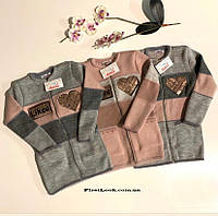 Детская вязаная кофта -кардиган на девочку (размеры 134-140-146)