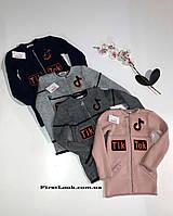 Детская вязаная кофта -кардиган на девочку (размеры 134-146)