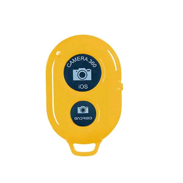 Бездротової bluetooth пульт для камери телефону. Селфи-кнопка. Жовта.