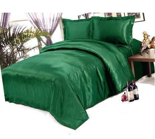 Постельное белье шелковый атлас Green