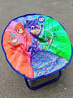 Детское раскладное кресло-стульчик ГЕРОИ В МАСКАХ с мягким сидением и спинкой (50х45х37 см, нагрузка до 37 кг)