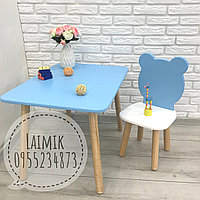 Детский столик и стул Мишка (детский стульчик, детская мебель,стульчик зайка), фото 1