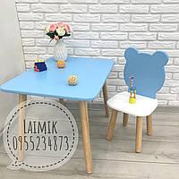 Детский столик и стул Мишка (детский стульчик, детская мебель,стульчик зайка)