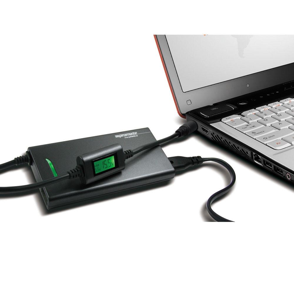 Домашний универсальный адаптер для ноутбуков Promate ChargMate.S