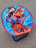 Детское раскладное кресло-стульчик ЧЕЛОВЕК ПАУК, СПАЙДЕРМЕН мягкое сидение, 50х45х37 см, нагрузка до 37 кг