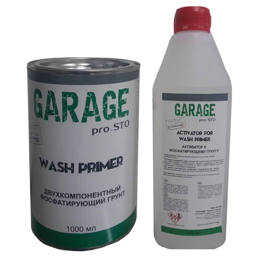 2K фосфатуючий грунт Wash Primer (1 л) з активатором (1 л), GARAGE