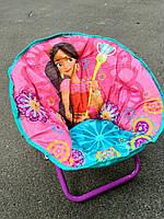 Детское раскладное кресло-стульчик ПРИНЦЕССА ЖАСМИН, мягкое сидение, 50х45х37 см, нагрузка до 37 кг