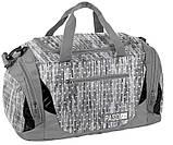 Спортивная сумка для фитнеса 27L Paso серая с сердечками, фото 2