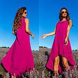 Платье-сарафан с ассиметрией из штапеля 35-340, фото 2