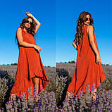 Платье-сарафан с ассиметрией из штапеля 35-340, фото 3