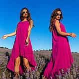 Платье-сарафан с ассиметрией из штапеля 35-340, фото 4
