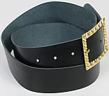 Женский кожаный ремень Vanzetti, Германия 100133 черный, 4х90 см, фото 2