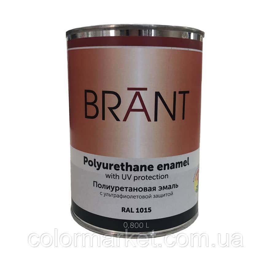 Эмаль полиуретановая цвет RAL 1015 (на ТР), 0,8 л, BRANT