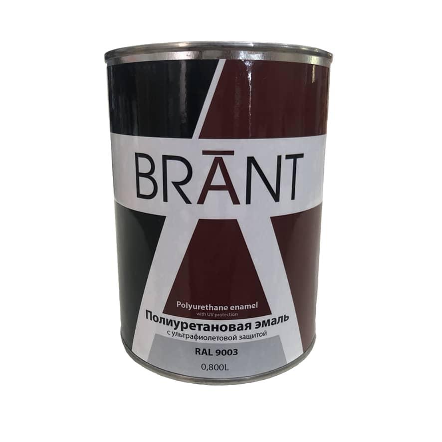 Емаль поліуретанова колір RAL 9003 (на ТР), 0,8 л, BRANT