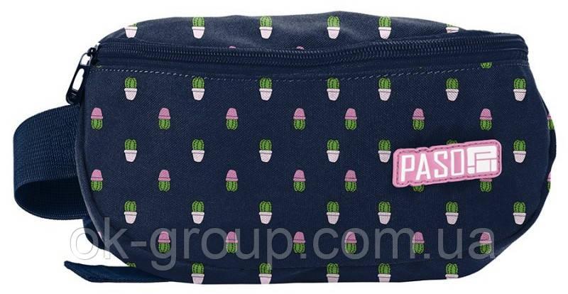 Женская сумка на пояс, бананка Paso PPMN19-510 синяя